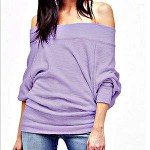 Free People Tops - Free People Palisades Off the shoulder top purple